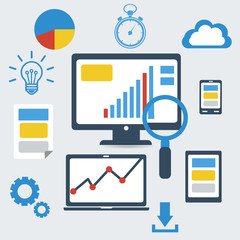 Responsive pc. SEO optimization,web analytics.