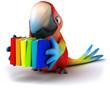 canvas print picture - Fun parrot