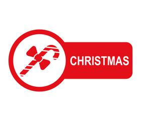 Etiqueta lateral texto CHRISTMAS con baston de caramelo
