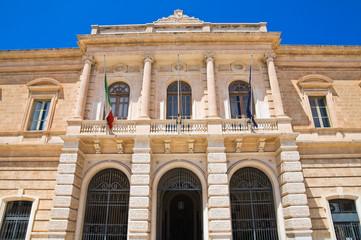 Town Hall Building. Fasano. Puglia. Italy.