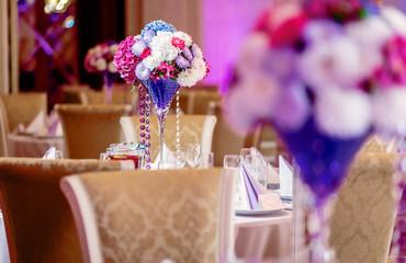 Luxury wedding banquet at restaurant