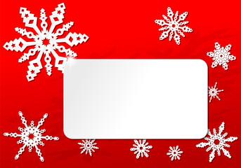 Papier Origami Weihnachts Schneeflocken Karte