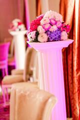 Beautiful bouquet at restaurant