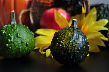 Autumn decoration with Pumkins