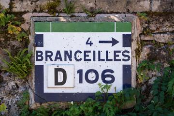 Ancien panneau  routier