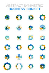 Abstract symmetric business icons