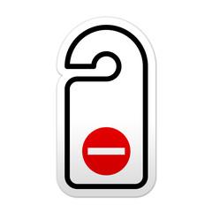 Pegatina simbolo no molestar