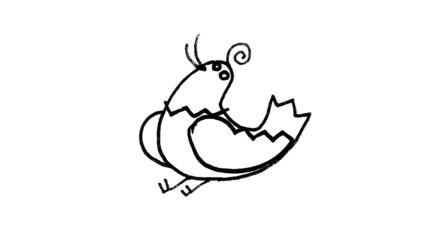 Bird in flying. Cartoon with mask.