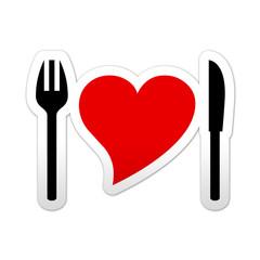 Pegatina simbolo nutricion