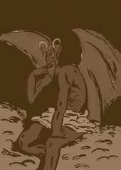 Thoughtful devil vintage