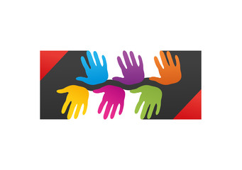 Abstrac helping hand balance Symbol, Logo, Icon