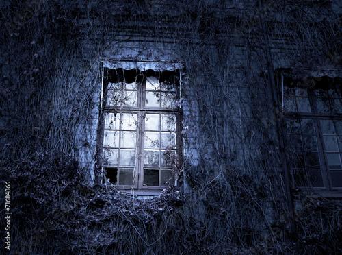Foto op Plexiglas Wand Spooky window