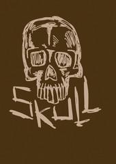Skull sketch vintage