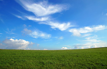 Wiese mit Wolken - Meditation