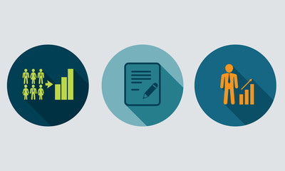 Human resources and management vector concept.Set icons 2.