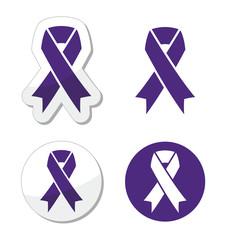 Indigo ribbon - bullying, stalking awareness symbol