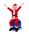 Happy Santa Claus boy on ornament