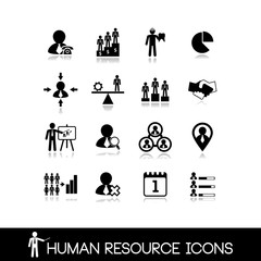 Human resource and management icons.Set vectors 8.