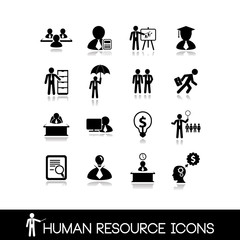Human resource and management icons.Set vectors 10.