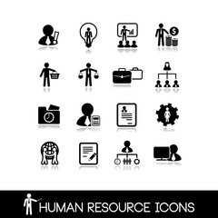 Human resource and management icons.Set vectors 11.