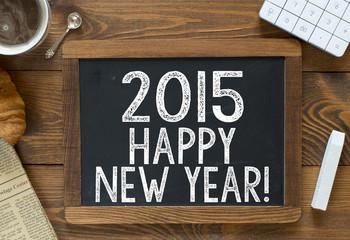 Happy 2015 New Year! handwritten