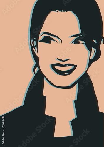 pop-portret-usmiechnieta-kobieta