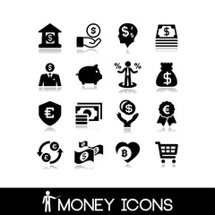 Money & banking  icons set 22.