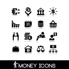 Money & banking  icons set 23.