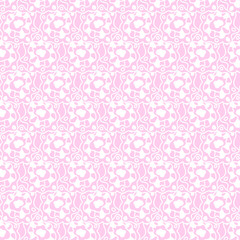 Floral Monochrome Seamless Pattern