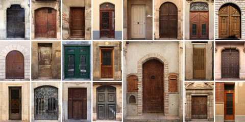 Set of 21 old doors and gates