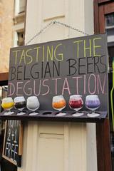 panneau dégustation bières belges