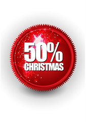 merry Christmas sale or discount banner