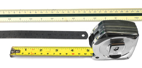 ruler,scale, Tape  measure in centimeters