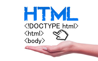 Html concept and hands