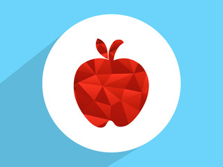 Red  apple ,Flat design style