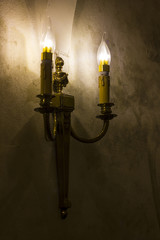 vintage lamp on wall , home decoration