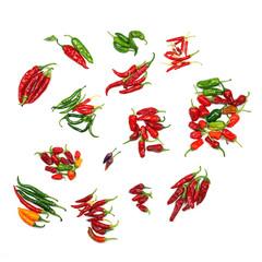 Verschiedene Chili-Sorten