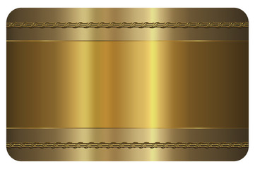 Business card template. Gold card.