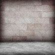 Sand stone wall and concrete  floor texture , Grunge design