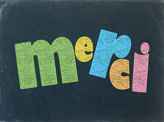 """MERCI"" (carte message remerciements joie remerciements)"