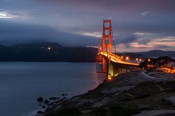 Illumination in  Golden Gate bridge, San Francisco, California