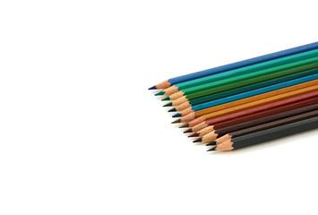 verschiedene Farbstifte