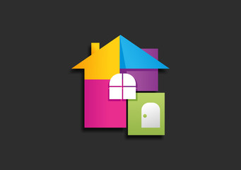 real estate abstract build logo, symbol, icon