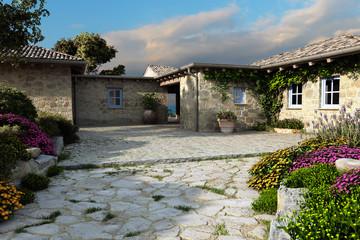 Corte case in pietra