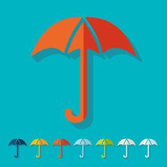 Flat design: umbrella
