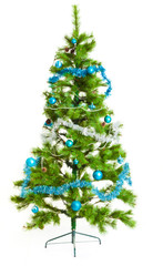 Christmas tree.  Isolated decorated christmas tree