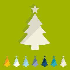 Flat design: christmas tree