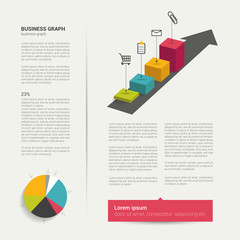 Modern flat page layout with text and chart diagram.