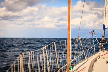 Yachting yacht sailboat sailing in baltic sea