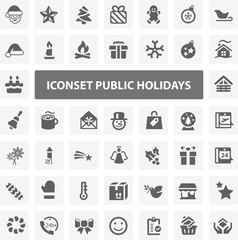 Website Iconset - Public Holidays 44 Basic Icons